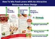 How To Win Food Lovers With An Attractive Restaurant Menu Design