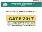 How to fill GATE Application Form 2017