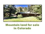 Mountain land for sale in Colorado
