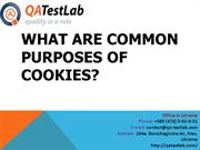What Are Common Purposes of Cookies?