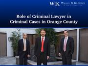 Role Of Criminal Lawyer In Criminal Cases In Orange County