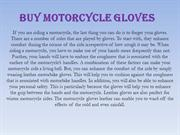 Buy Motorcycle Gloves