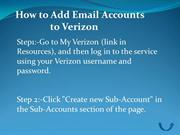 How to Add Email Accounts to Verizon