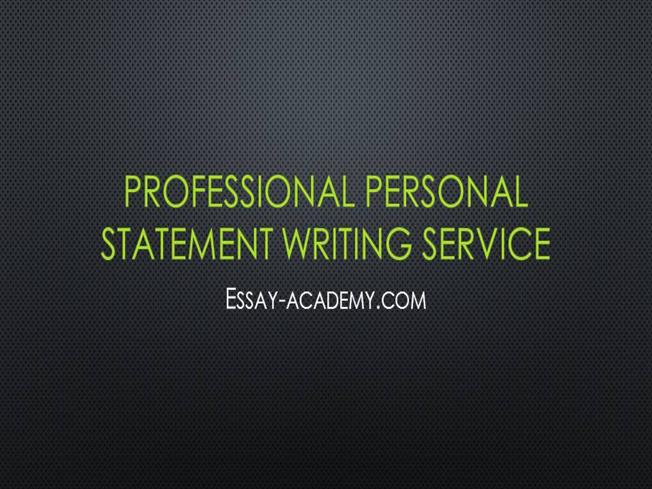 Professional personal statement writing services