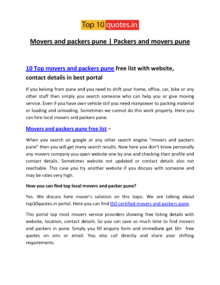 Movers-And-Packers-Pune Pdf |authorSTREAM