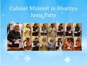 cabinet minister in bjp
