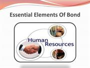 Essential Elements Of Bond