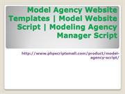Model Agency Website Templates|Model Website Script