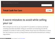 5 worst mistakes to avoid while selling your car