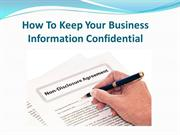 How To Keep Your Business Information Confidential
