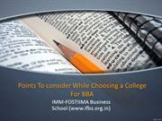 Points To consider While Choosing a College For BBA (1)