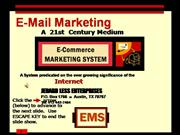 The E-Commerce Marketing System