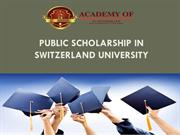 Public Scholarship in SWITZERLAND UNIVERSITY