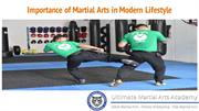 Importance of Martial Arts in Modern Lifestyle