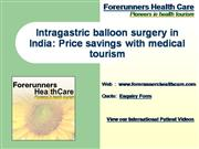 Intra gastric balloon surgery in India P