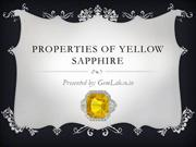 Properties Of Yellow Sapphire Gemstone (Pukhraj)