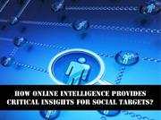 How Online Intelligence Provides Critical Insights for Social Targets
