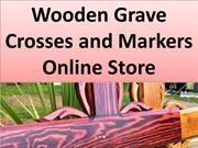 Wooden grave crosses and markers online store