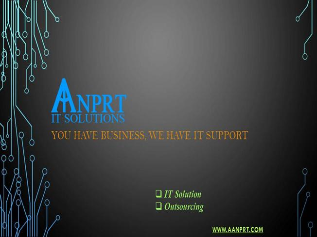 AANPRT it SOLUTIONS Company Profile PPT  authorSTREAM