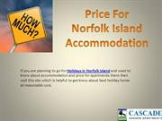 Price for Norfolk Island Accommodation