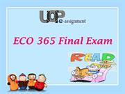 UOP E Assignments | ECO 365 & ECO 365Final Exam Answers
