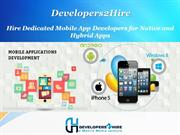 Hire Dedicated Mobile App Developers for Native and Hybrid Apps