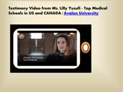 Top Medical Schools in US and CANADIAN Medical Student Testimonials