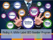 Finding A White Label SEO Reseller Program