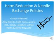 Group 1 Presentation on Harm Reduction Policies