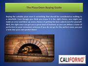 The Pizza Oven Buying Guide