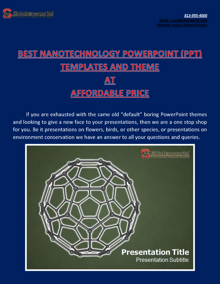 best nanotechnology powerpoint (ppt) templates and theme at afford, Presentation templates