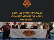ASIQUAL International Qualifications of ABMS UNIVERSITY