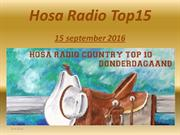 Hosa Radio Country Top 15 15 september 2016
