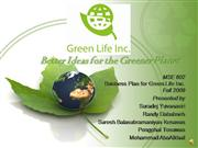 Business Plan : Green LIfe Inc.