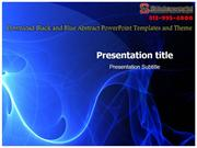 Download Black and Blue Abstract Powerpoint Templates and Theme