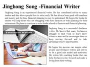 Jinghong Song - Financial Writer