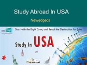 Study in USA, Overseas Education Consultants for USA - Newedgecs