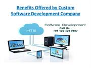 Benefits Offered by Custom Software Development Company