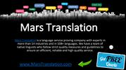 Document Translation Services by Mars Translation