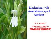 Stereochemistry and reactionmechanism