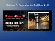 Welcome To Pune Machine Tool Expo 2016