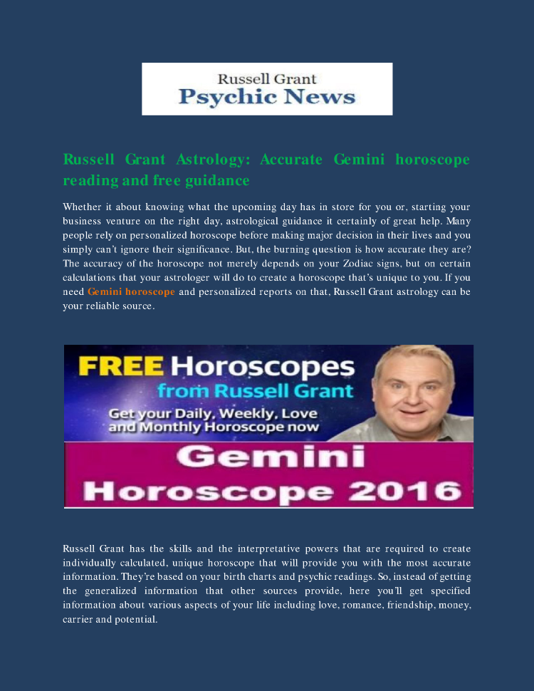 Accurate Gemini Horoscope Reading And Free Guidance
