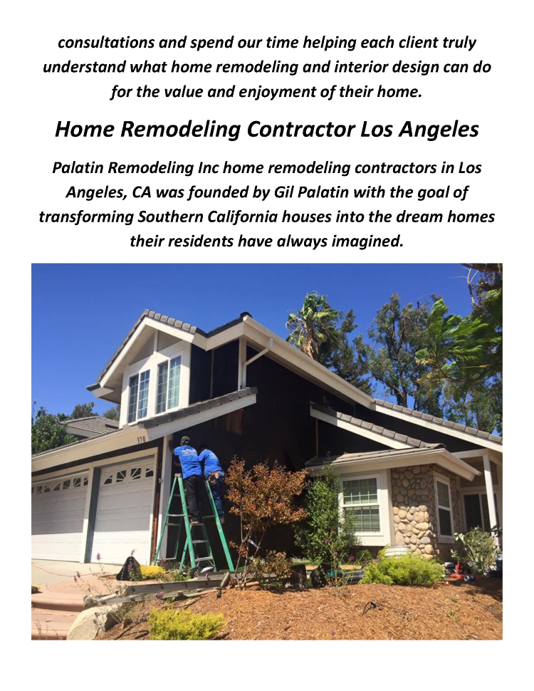 Home Remodeling Contractor In Los Angeles By Palatin Remodeling In - Home remodeling contractors los angeles