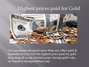 Highest prices paid for gold