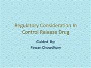 regulatory consideration in control drug