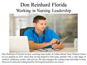Don Reinhard Florida - Working in Nursing Leadership