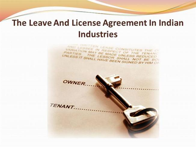The Leave And License Agreement In Indian Industries Authorstream