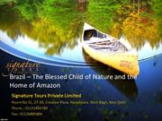 Brazil – The Blessed Child of Nature and the Home of Amazon