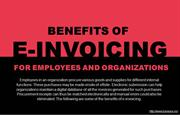 How employees & organizations benefit from e-invoicing