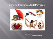 General Insurance and It's Types